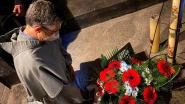 Minister generalny w celi śmierci św. Maksymiliana M. Kolbego
