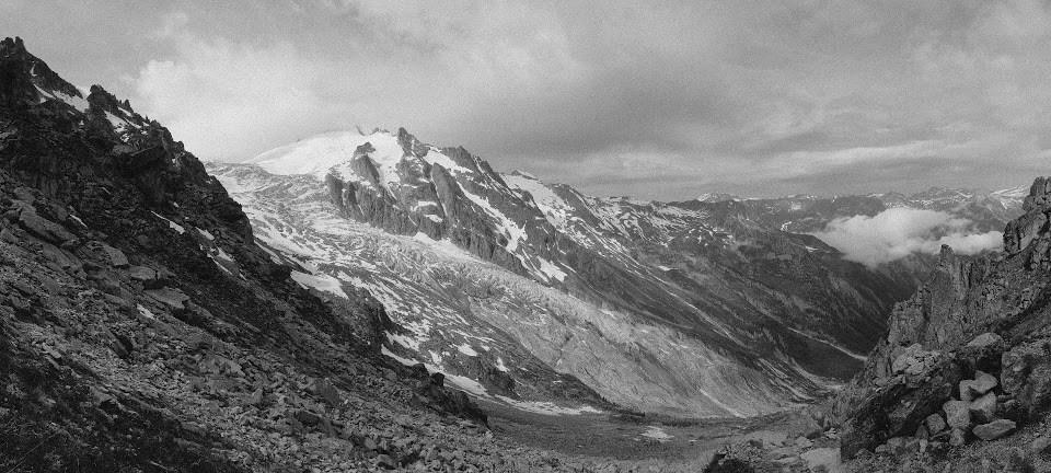 La montagne en noir et blanc – fenêtre d'Arpette (2665m)