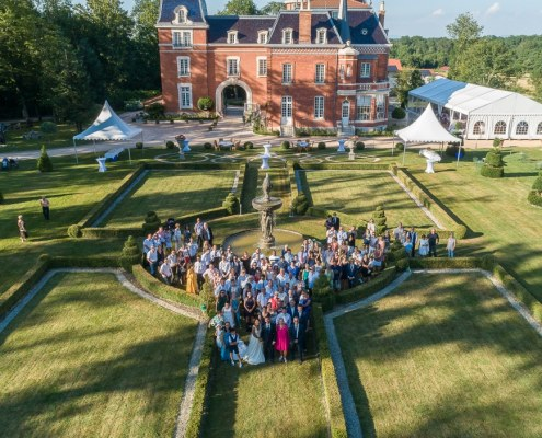 drone photo mariage