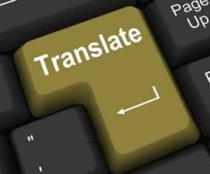keyboard with translation key
