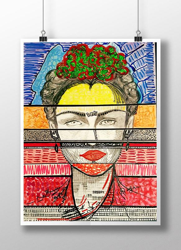 "Frida Oil on Canvas 35"" x 24"""