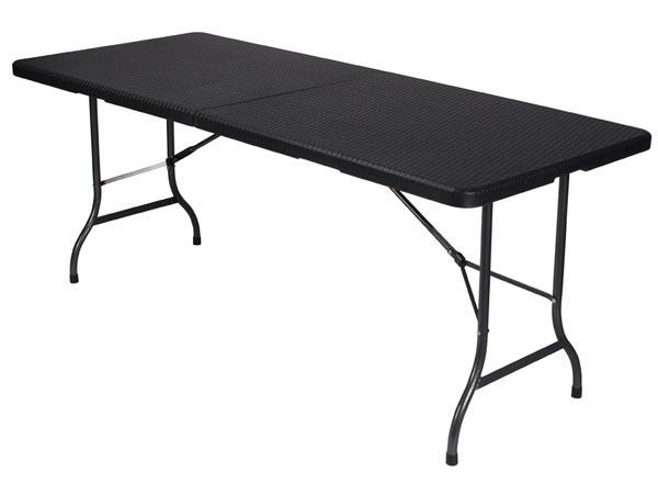 table d appoint pliante interieur exterieur facon rotin 8 pers