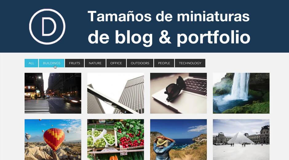 Divi: solución tamaño miniaturas de blog y portfolio