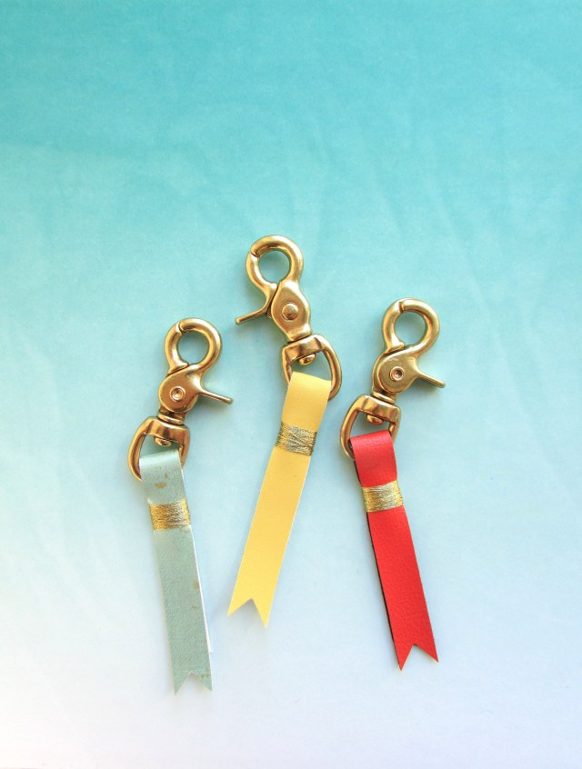 Top DIY Projects of 2015: Faux Leather Keychains | Francois et Moi