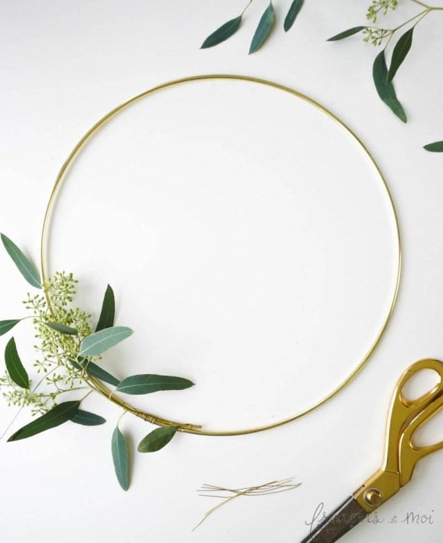 Make a Eucalyptus Candle Wreath | Francois et Moi