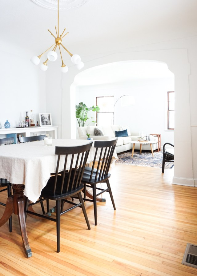 Francois Renovates: Living & Dining Room Before & After | Francois et Moi
