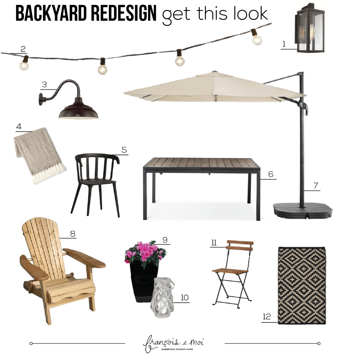 GET THIS LOOK! Peek into our backyard for full before and after details of our backyard redesign, including where to source everything for your own outdoor space!