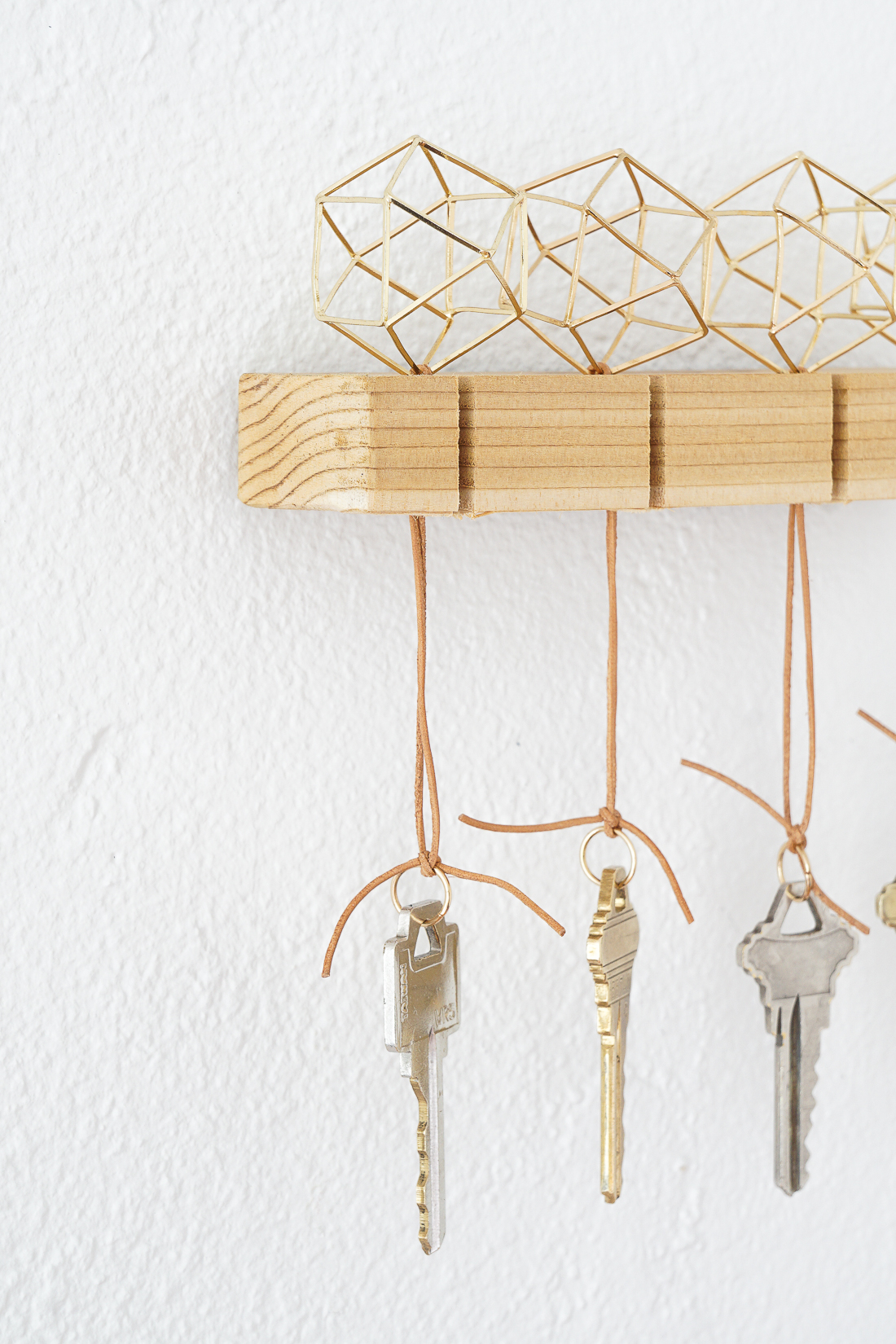 diy modern key holder francois et moi