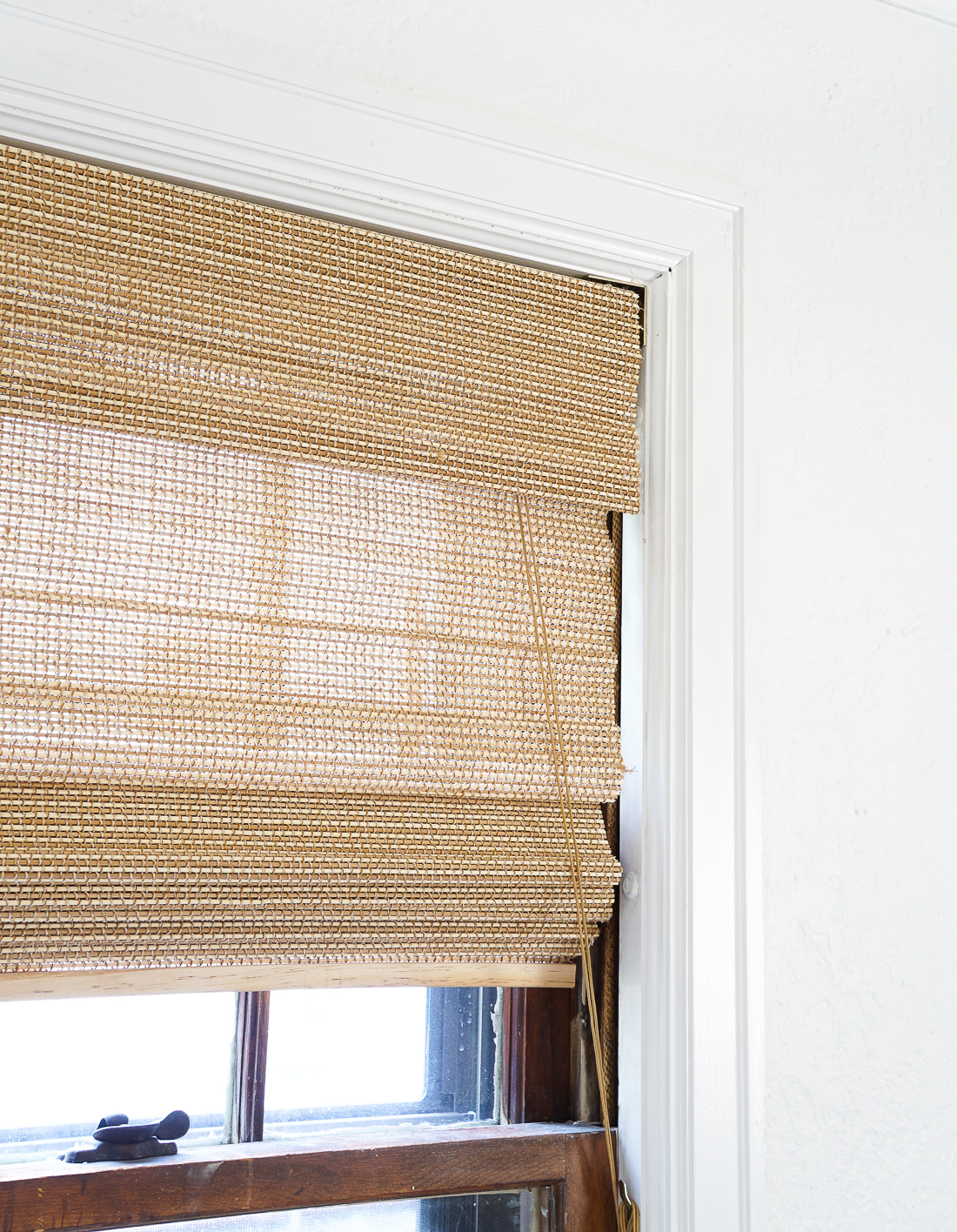 woven window shades living room customfit woven window shades are pretty penny so if you can how to cut down woven window shades francois et moi