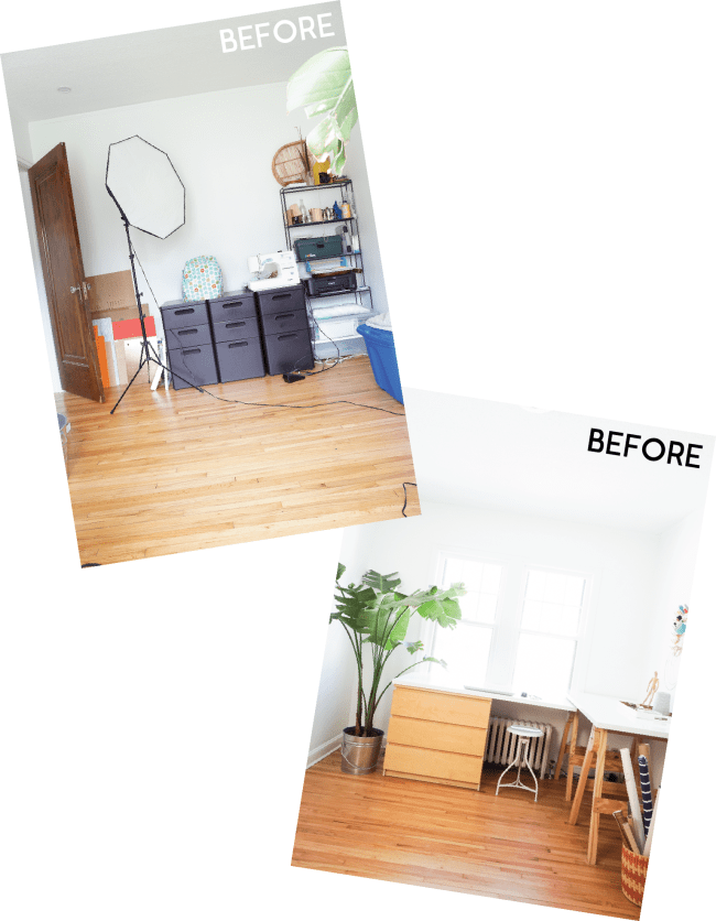 See how we created a guestroom within our office using a murphy bed. Click for the full before & after!