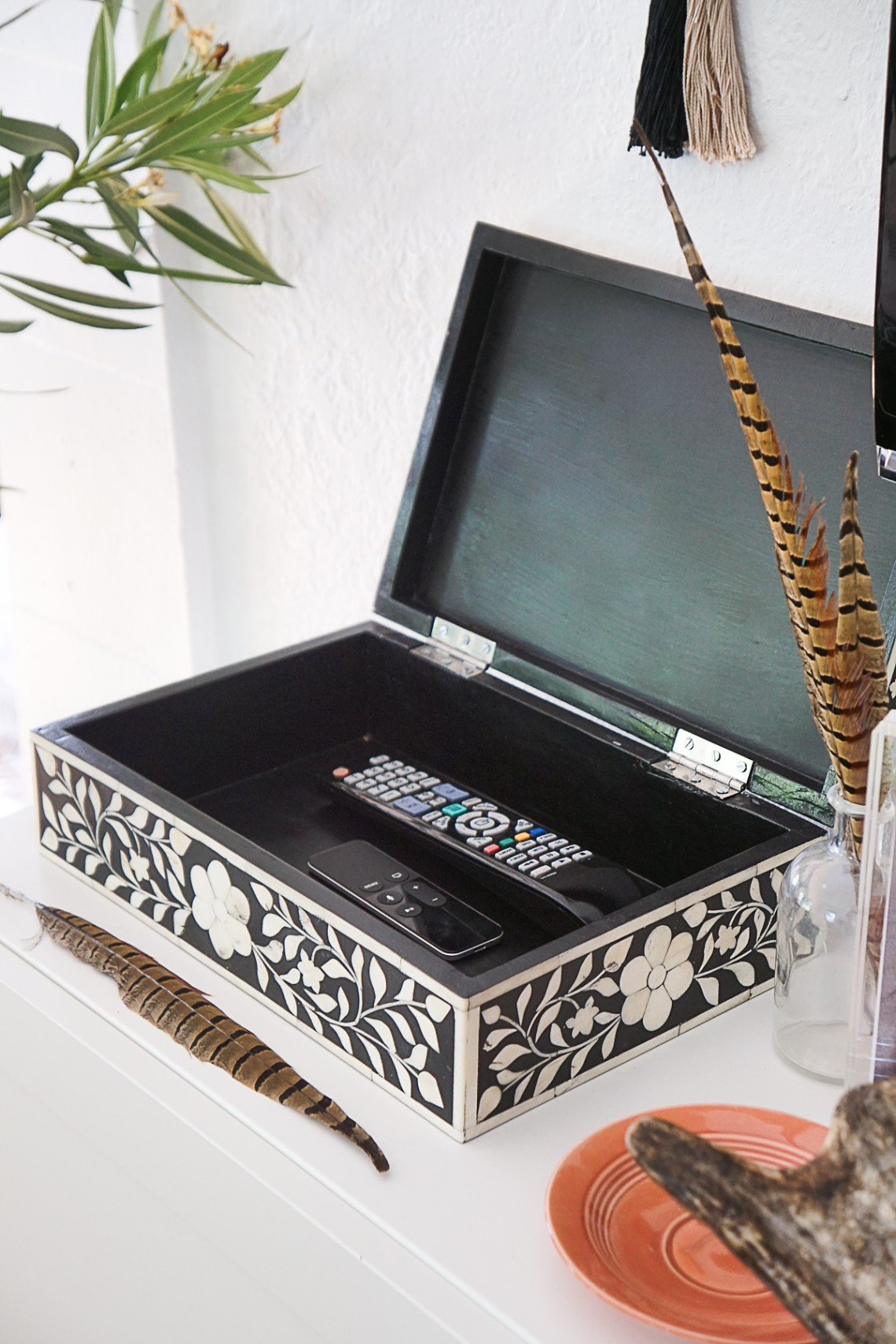Exploring the handmade process involved in creating a Meridian bone inlay box made by a family of master artisans in Rajasthan, India.