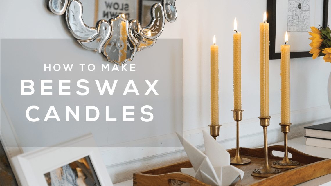 A fast way to make beeswax taper candles without the drippy mess and cleanup. Come watch the quick video on my favorite way to make beeswax candles.