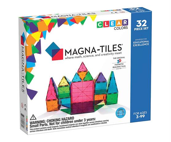 magna tiles in box, 32 piece set