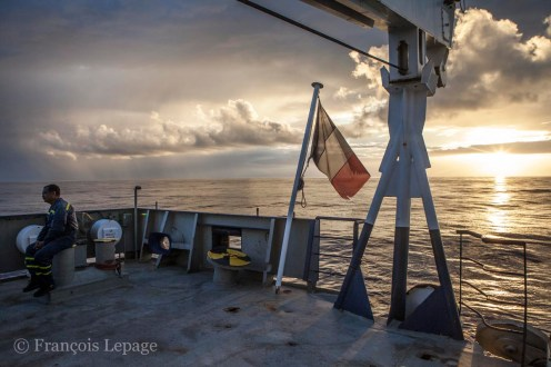 © François Lepage sur le Marion dufresne