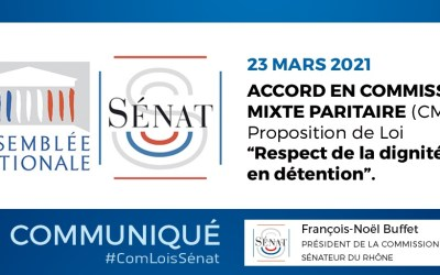 Accord en Commission Mixte Paritaire sur ma PPL tendant à garantir le droit au respect de la dignité en détention – 23/03/2021