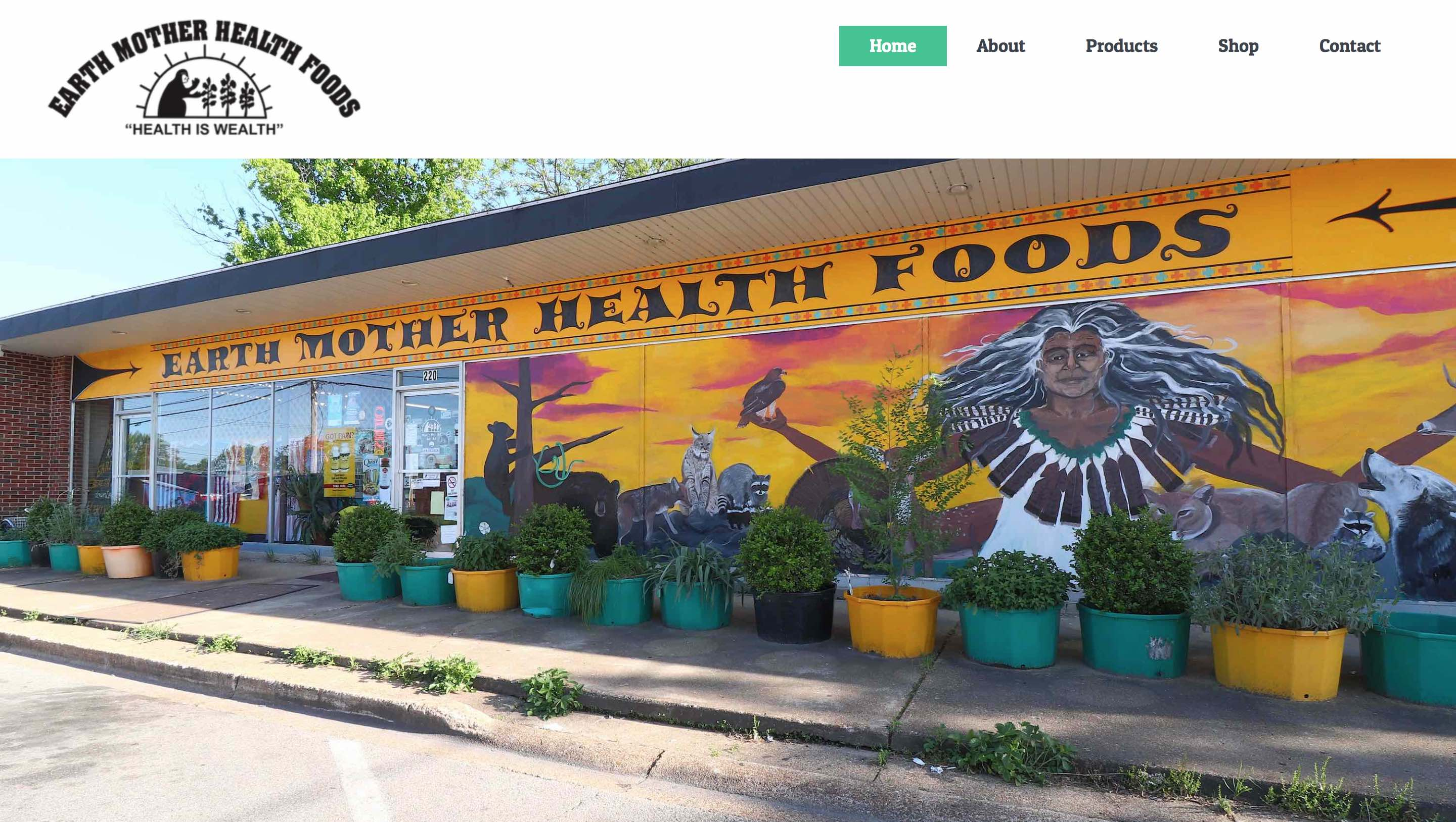 Earth Mother Health Foods – Website