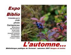 5 ExpoBiblio L'automne 2007 catalogue