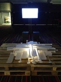 """Jour #2_Installation complète pour mon oeuvre """"Les deux bords de la rivière"""""""