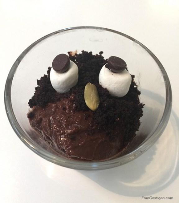 Vegan Halloween Pudding Ghoul