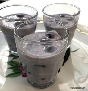 Dairy-Free Vegan Blueberry Shooters
