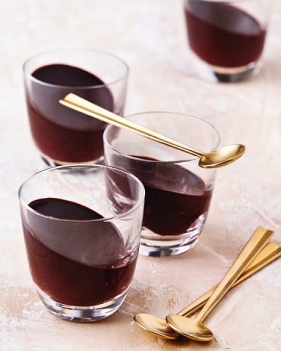 Chocolate Jello Shots from Vegan Chocolate by Fran Costigan, Photo © Kate Lewis