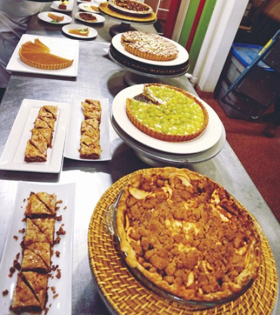 Pies and Tarts Table with some Baklava