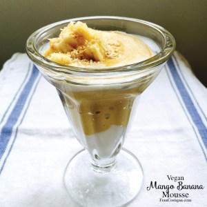 Vegan Mango Banana Mousse