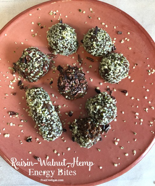 Raisin Walnut Hemp Energy Bites