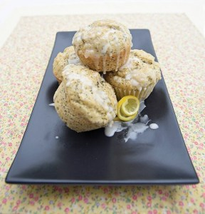 Vegan Aquabafa Lemon Poppy Seed Muffins