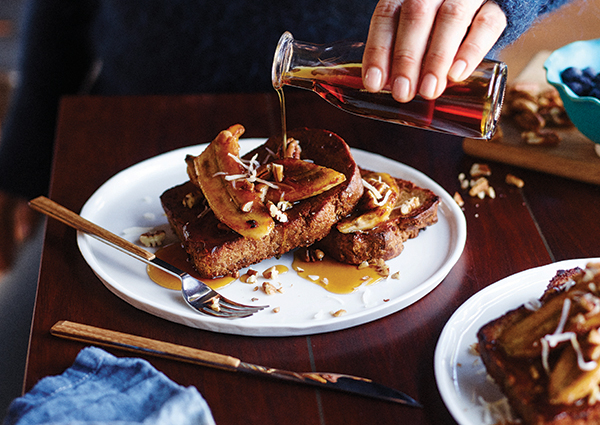 French Toast with Caramelized Bananas from The Perfect Blend by Tess Masters