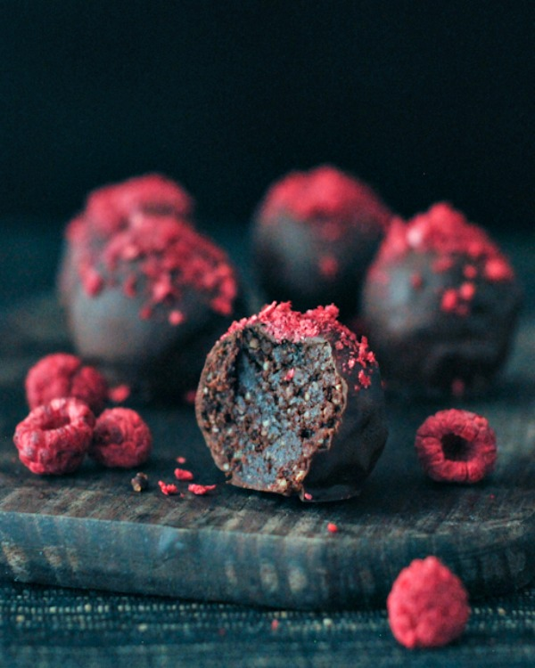 Spabettie's Raspberry Chocolate Fudge Brownie Truffles