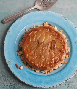 Vegan Pear Almond Upside Down Cake from Jill Nussinow