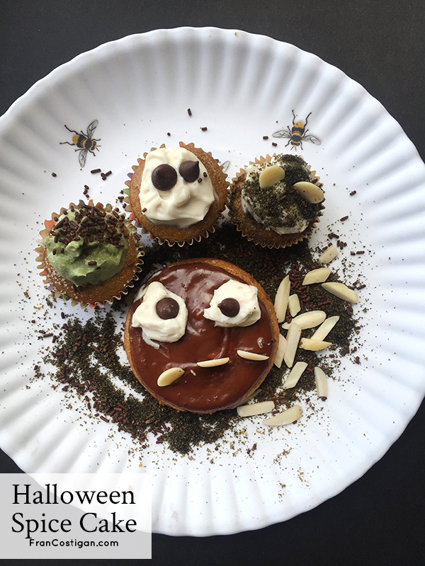 Spooky Not-Too-Sweet Halloween Spice Cake