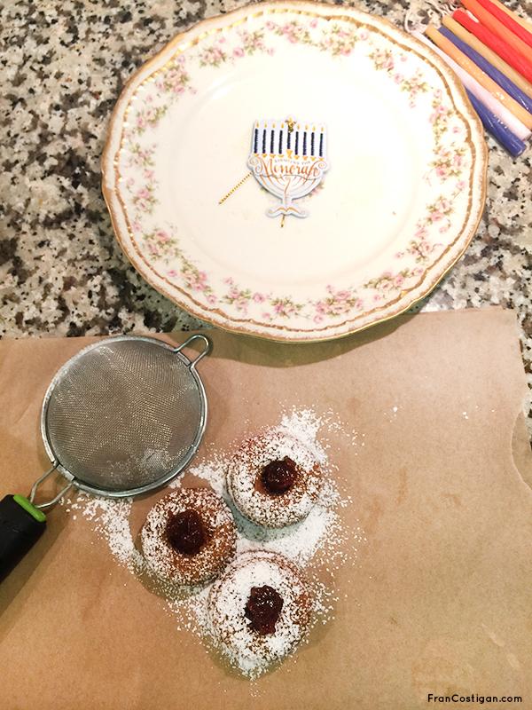 Vegan Hanukkah Spiced Mini Jelly Donuts