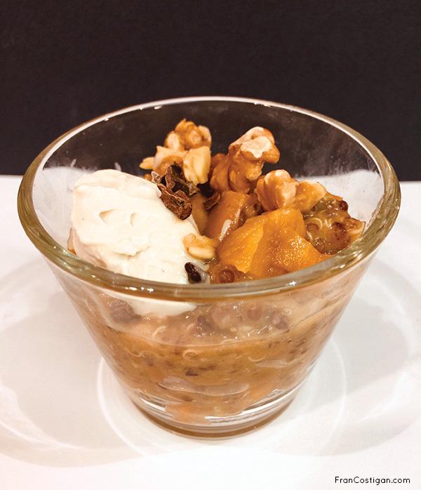 Fran Costigan's Red Quinoa and Mango Pudding, vegan and gluten-free