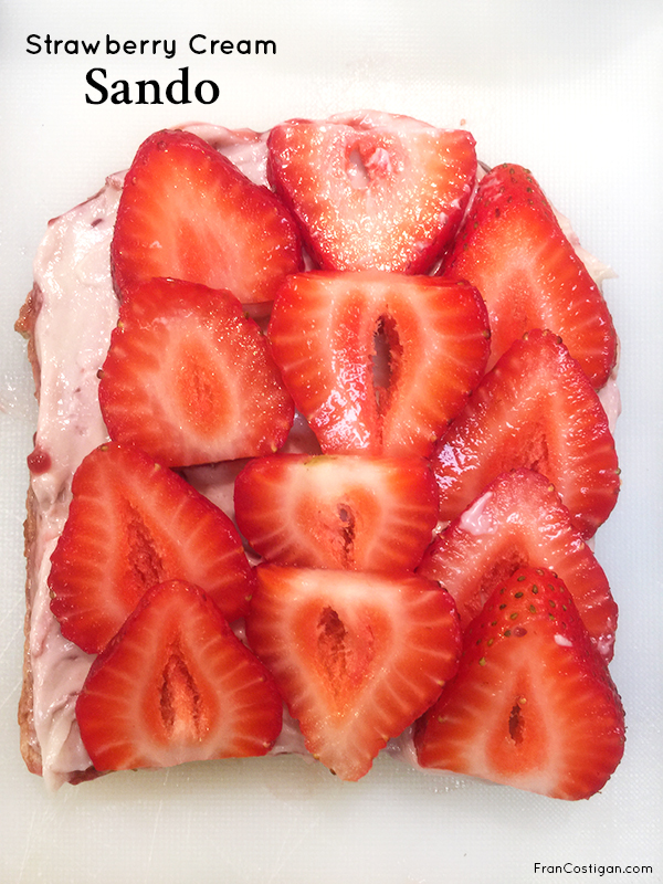 Fran Costigan's Vegan Strawberry Cream Sando