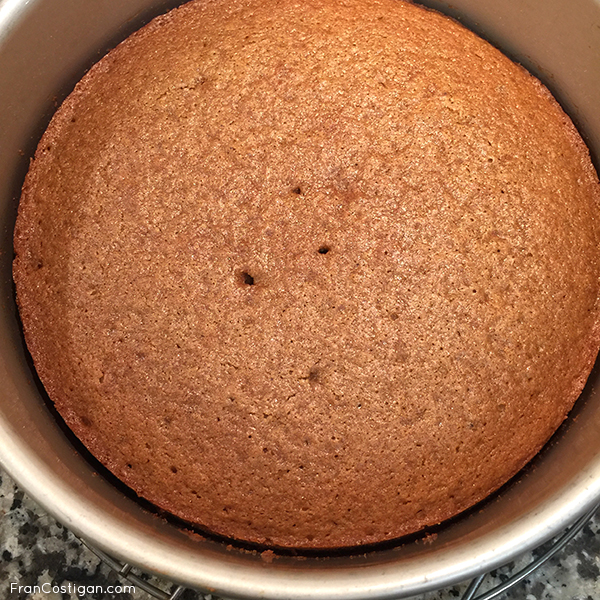 Fran Costigan's vegan Dark Moist Spice Cake close up in pan