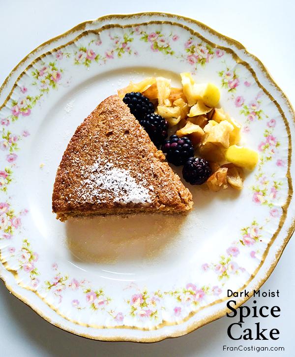 Fran Costigan's vegan Dark Moist Spice Cake is the ultimate fall dessert. #vegan #cake #dessert #vegandessert