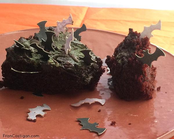Halloween Cake slice