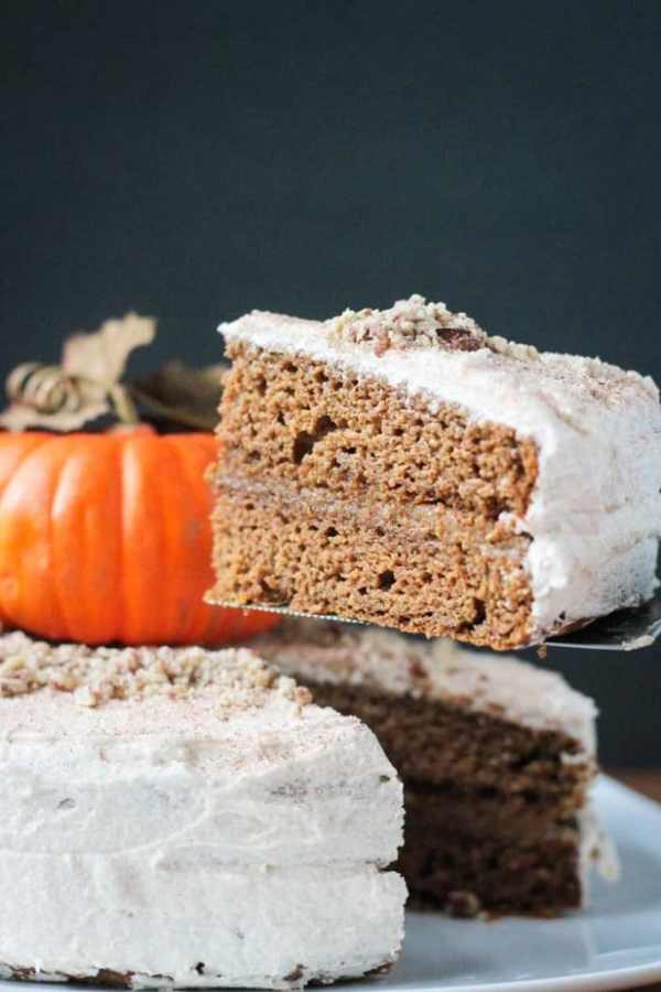 Chai Spiced Pumpkin Layer Cake from Veggie Inspired