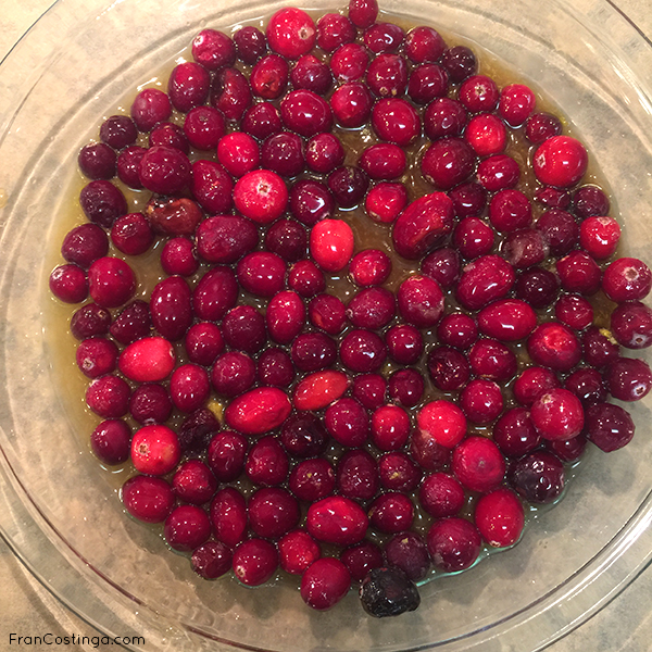 Cranberries for the Vegan Holiday Pudding