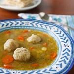 Vegan Matzo Ball Soup from Nava Atlas