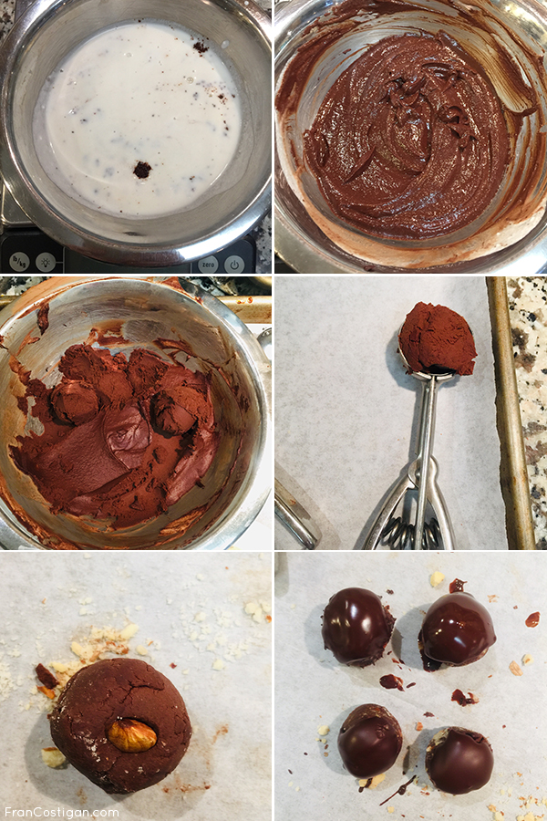 Making truffles collage