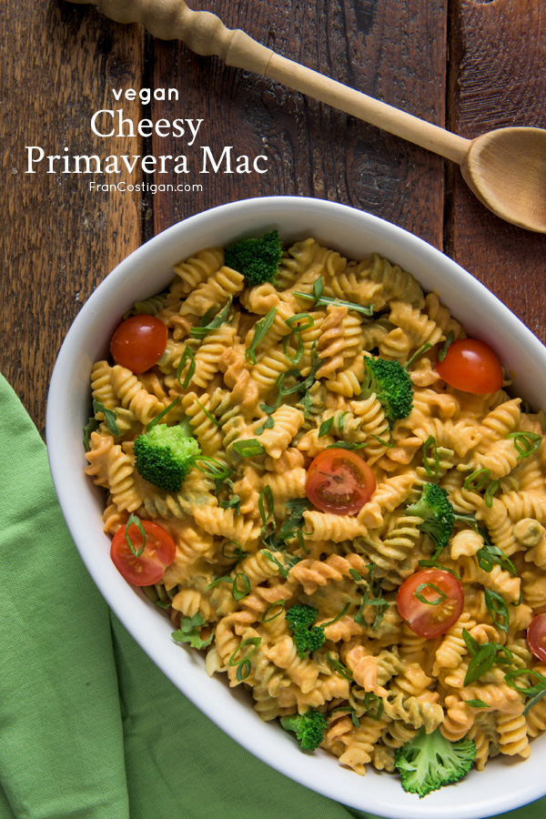 Cheesy Primavera Mac from Vegan Mac and Cheese by Robin Robertson
