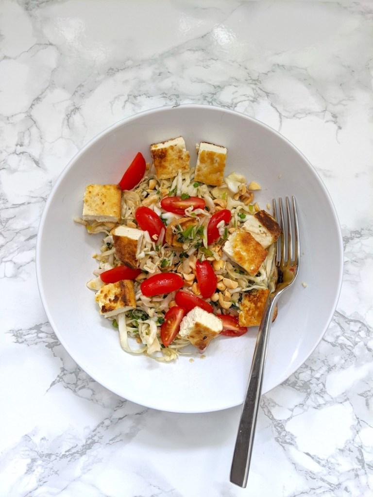 Thai Cabbage Salad with Tofu