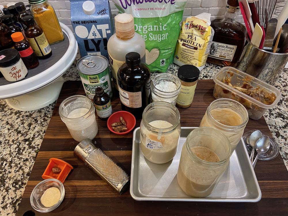 vegan eggnog mise en place