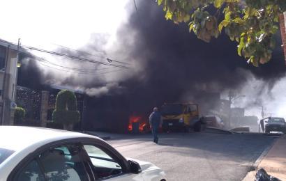 Se Incendia Pipa, 2 Casas y Cinco Autos en Tampico