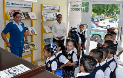 Alumnos de la Primaria Margarita Maza de Juarez Visitan la Biblioteca Municipal