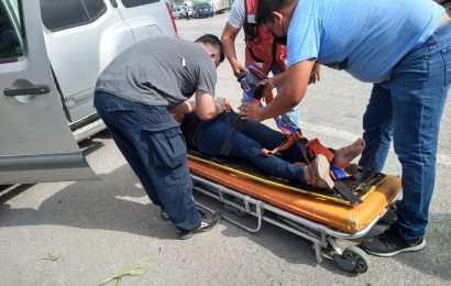 Choque en Loma Alta Deja una persona Lesionada