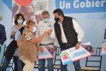 """Gobernador yEsposa Celebran en El Mante gran jornada de Servicios Asistenciales """"Un gobierno cerca de ti""""."""